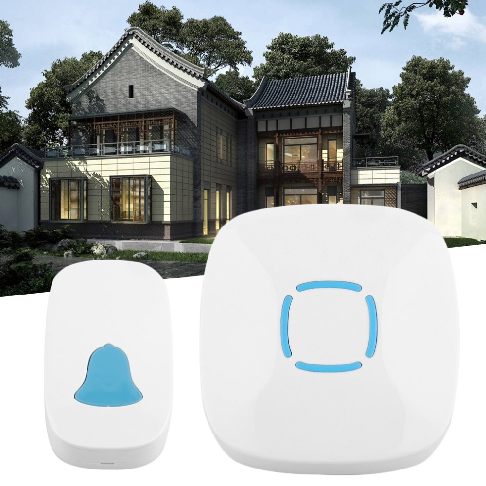 A507 Universall Household Use Low Power Consumption Wireless Doorbell Waterproof Music Home Security Device White US PlugA507 Universall Household Use Low Power Consumption Wireless Doorbell Waterproof Music Home Security Device White US Plug