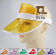 d49ec843bd7 24 pcs lot Summer Neon shade retro party cap plastic visor sun hat rave  festival