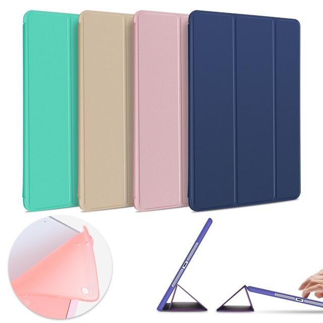 Trường hợp cho iPad Không Khí 2 Không Khí 1, mềm TPU trở lại thông minh nắp che lật đứng Trường Hợp PU da Trường Hợp cho iPad Không Khí chống sốc và chống bụi