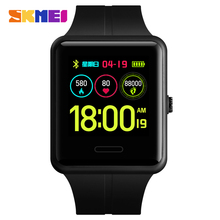 SKMEI Men Digital Smart Watches Heart Rate Blood Pressure Bluetooth Pedometer Male Wristwatch For Android IOS Relogio Masculino skmei bluetooth smart watch pedometer calories outdoor sports watches men fashion wristwatches for ios android relogio masculino