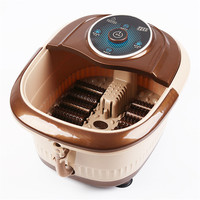 Automatic Heated Electric Foot Bath Massage Pediluvium Bucket Foot Bathing Massager Home Household Health Car Tool