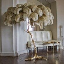 Lámpara de pie con diseño de rama de árbol de lujo y moderno estilo nórdico, lámparas de pie de alta calidad para sala de estar, envío directo