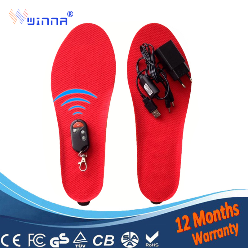 NEW Heating Insoles With Built in battery winter Remote Control Powered insoles for men and women