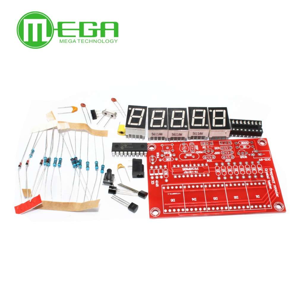 10pcs/lot Diy Kits Rf 1hz-50mhz Crystal Oscillator Frequency Counter Meter Digital Led Tester Meter Bright And Translucent In Appearance Active Components