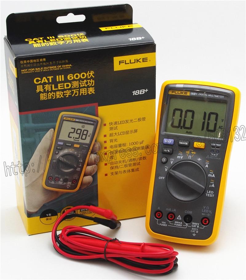 FLUKE 18B LED Test Digital Multimeter Meter DMM with TL75 test leads F18B FLUKE 18B