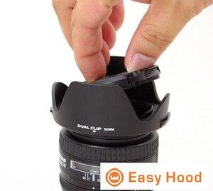 Image 3 - Evrensel Lens Hood boyutu 52mm 55mm 58mm 62mm 67mm 72mm 77mm 82mm çoğu için uygun kamera modelleri Drop Shipping