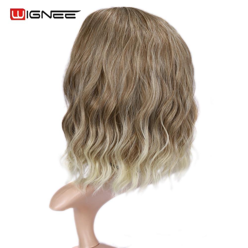 Wignee Mixed Color 613 Korta Kinky Curly Parykar För Kvinnor Hög - Syntetiskt hår - Foto 5