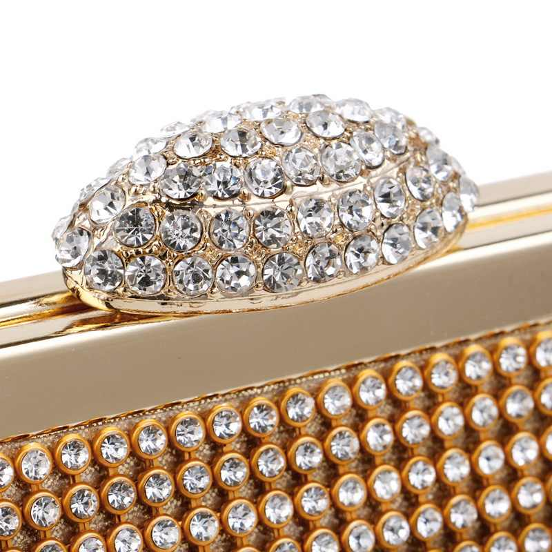 SEKUSA Стразы для женщин вечерние сумки с цепочкой на плечо сумки серебро/золото/черный мессенджер маленький кошелек ежедневные клатчи сумка