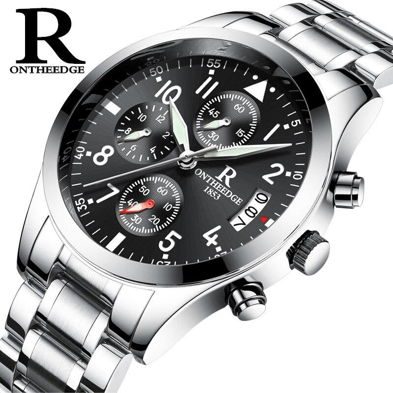 Hot New Men Watch Luxury Brand Business Watches Fashion Casual Calendar Luminous Waterproof Quartz Men Watch Zegarki Meskie