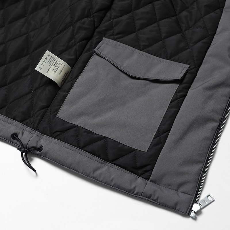 Grueso Brand Casual Chaqueta Gray Poliéster Alta Más Nuevo Md017002 Coats Moda Hombres Caliente Tamaño Invierno Simwood Calidad 2018 w60nBRv64