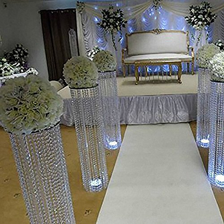 6pcs/lot New arrival 120cm tall acrylic crystal wedding road lead wedding centerpiece event party aisle walkway decoration-in Party DIY Decorations from Home & Garden    2