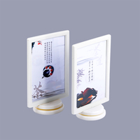 Wholesale Display Two Sided Rotatable Drink Decca Recipe New Fashion Table Top Restaurant Menu Holder Cover
