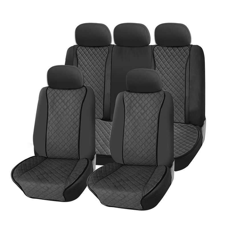 AUTOROWN Универсальные накидки из алькантары на сиденье автомобиля Аксессуары в салон машины Накидки для Toyota Honda Kia Mazda Lexus BMW Всесезонные Автомобильные накидки из искусственной замши Высокое качество