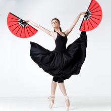 Folding Fan Fan-Decoration Hand-Fan Cloth Kung-Fu Chinese Large Nylon for Party-Fav 2pieces