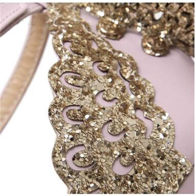 Explosion Models 2017 New Fashion Valentine Shoes Bronzing sequins Butterfly High Heels Sandals Stiletto/Party Wedding Sandals