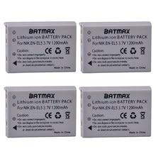 Hoge capaciteit 3.7 V 1200 mAh Li-Ion Batterijen (4-PACK) EN-EL5 ENEL5 EN EL5 voor Nikon Coolpix 3700 Coolpix 4200 5200 Coolpix 5900