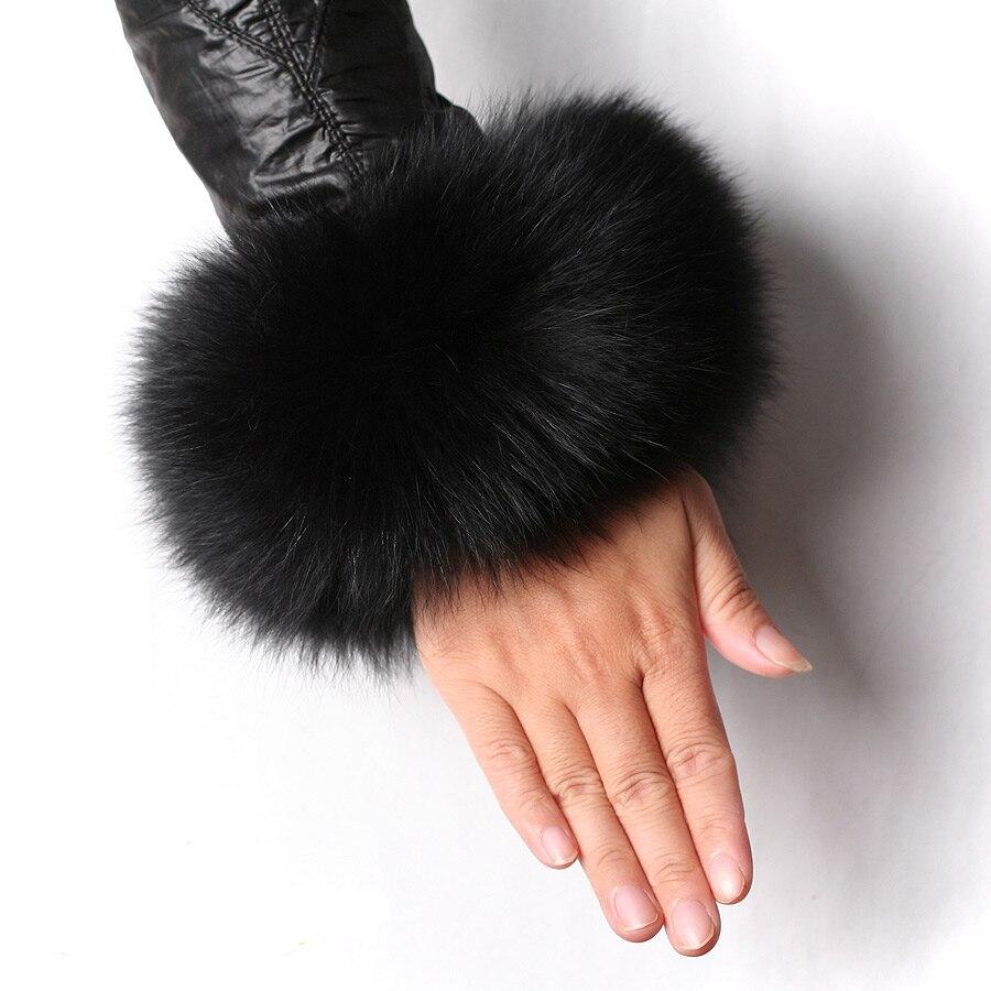 Apparel Accessories Real Fox Fur Cuffs Density Fur Ring 30cm Long 12cm Width Fox Sleeves