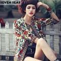 Novo Steampunk Retro Vintage jaquetas Mulheres Veste Femme Curto Casaco Chaquetas Mujer Manteau mulheres Casacos Bordados Hippie Boho