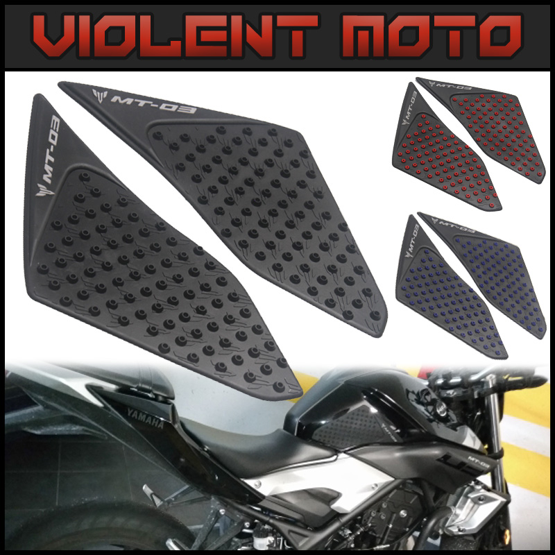 For Yamaha MT-03 2015-2016 Motorcycle Protector Anti slip Tank Pad Sticker Gas Knee Grip Traction Side 3M Decal Blue