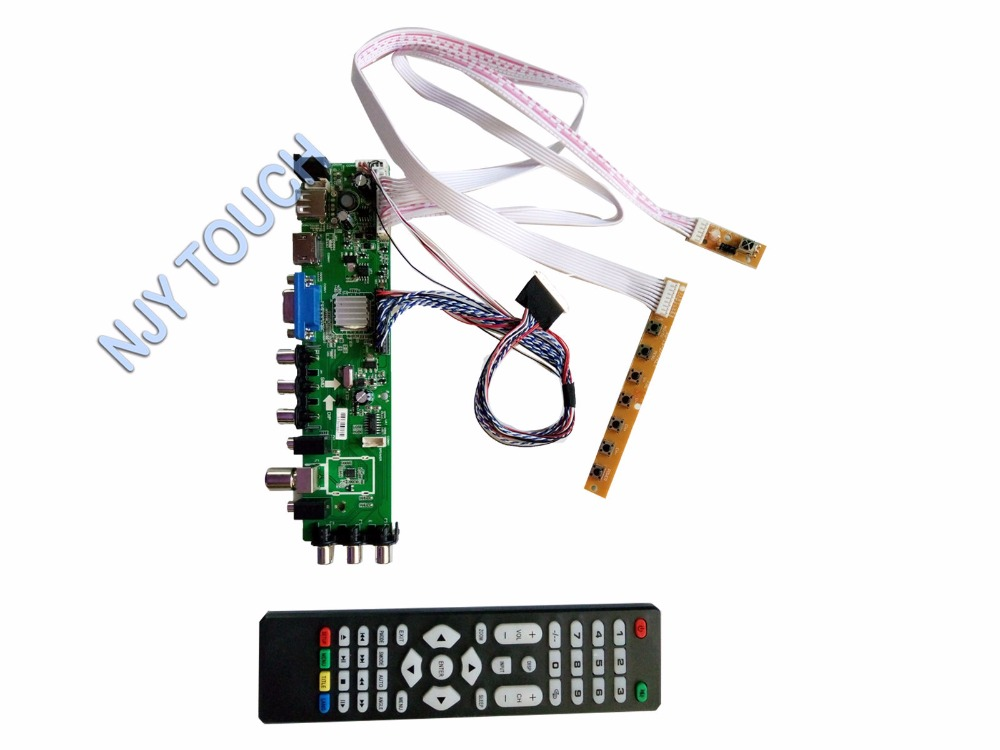 New Z.VST.3463 DVB-C DVB-T DVB-T2 LCD Controller Board For LP173WD1(TL)(A1) 1600x900 LED Panel Kit ttlcd laptop hd lcd screen display 17 3 inch fit lp173wd1 tl c3 new led glossy