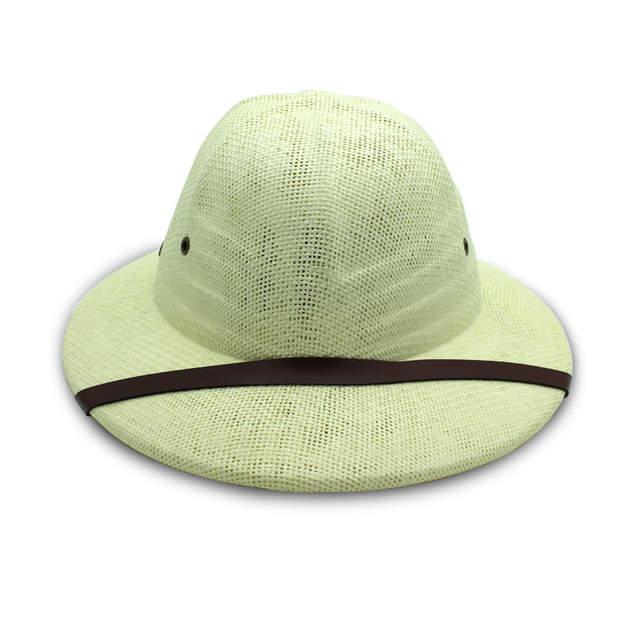 f3029cbc placeholder Summer Straw Pith bucket hats for men sun hat cap mens panama  Safari Jungle wide brim