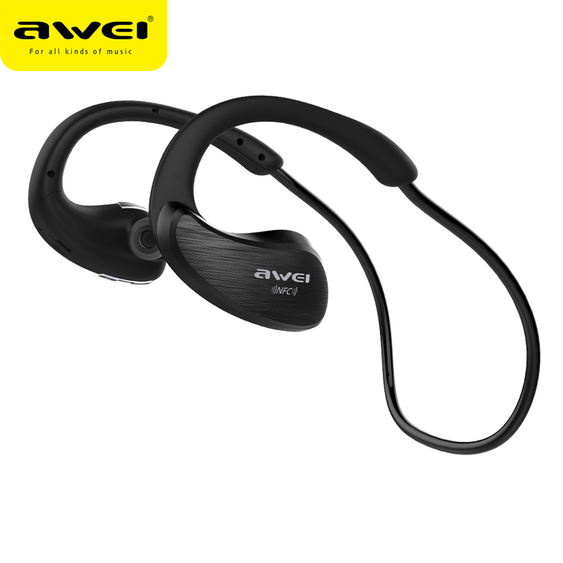 AWEI A885BL Bluetooth Headphone Waterproof Wireless Cordless Earphone HiFi Sports Headset APT-X fone de ouvido Stereo Earpiece bluetooth earphone headphone for iphone samsung xiaomi fone de ouvido qkz qg8 bluetooth headset sport wireless hifi music stereo