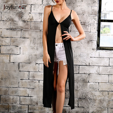 Joyfunear Sexy Satin v neck camisole tank top women backless button crop top New fashion lady sleeveless black camis tops