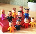 Kid's gift mini vintage plastic baby doll  2x4cm  5pcs/ a lot  with color  XT002