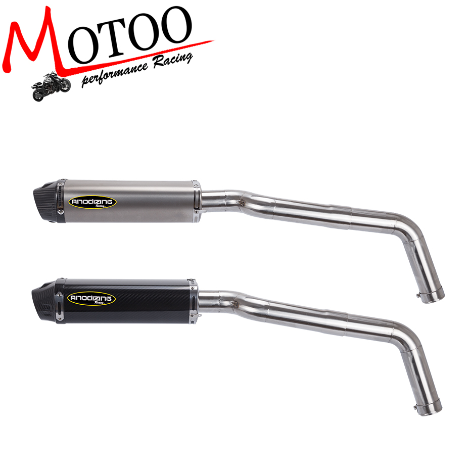 Motoo - FOR HONDA CBR600RR 2007-2012 Carbon Fiber Exhaust Muffler Pipe Link middle Pipe Escape motoo universal new motorcycle carbon fiber exhaust scooter modified exhaust muffler pipe for honda cbr600rr
