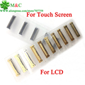 10 pcs original lcd screen display touch panel digitador fpc conector para ipad 2 3 4 para ipad mini 1 2 3 4 em motherboard