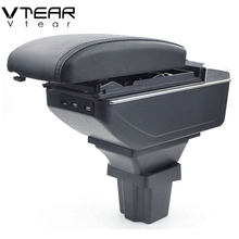 Vtear Voor Chevrolet Trax Tracker Accessoires Auto Armsteun Usb Opbergdoos Lederen Arm Rest Center Console Box Handrust 2014 2019(China)