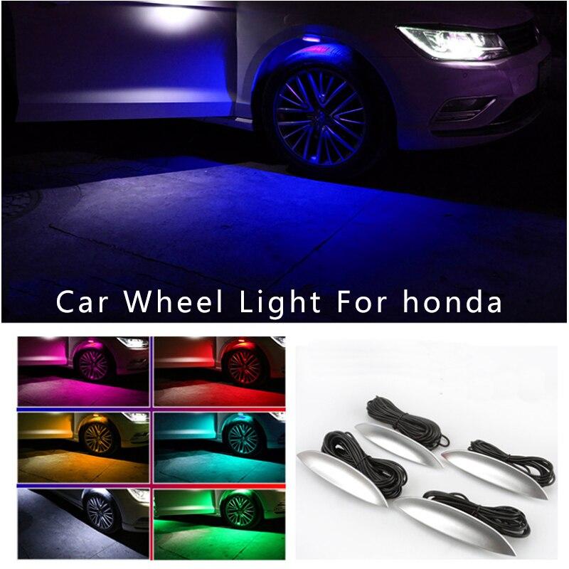 4pcs Decorative Car Wheel Light Auto Wheel lamp Flashing Model For CRV Civic Accord CITY Fit Pilot Crossroad