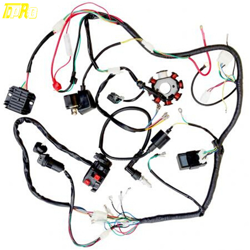 Complete Electric Wire Harness Magneto Coil, CDI For 200CC ... on