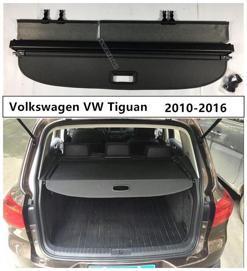 Couvercle de protection de coffre arrière pour Volkswagen VW Tiguan 2010 2011 2012 2013 2014 2015 2016 accessoires Auto de haute qualité