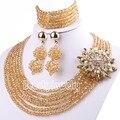 2015 Caliente de la Joyería de Perlas de La Joyería de dama de Honor de La Boda de Nigeria Perlas Africanas Joyería Determinada Del Collar Envío Gratis SET 61