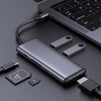Xiaomi Hagibis Type C Multifunctional Converter Dual USB 3.0 Data Adapter for HDMI SD/TF FOR Macbook Samsung