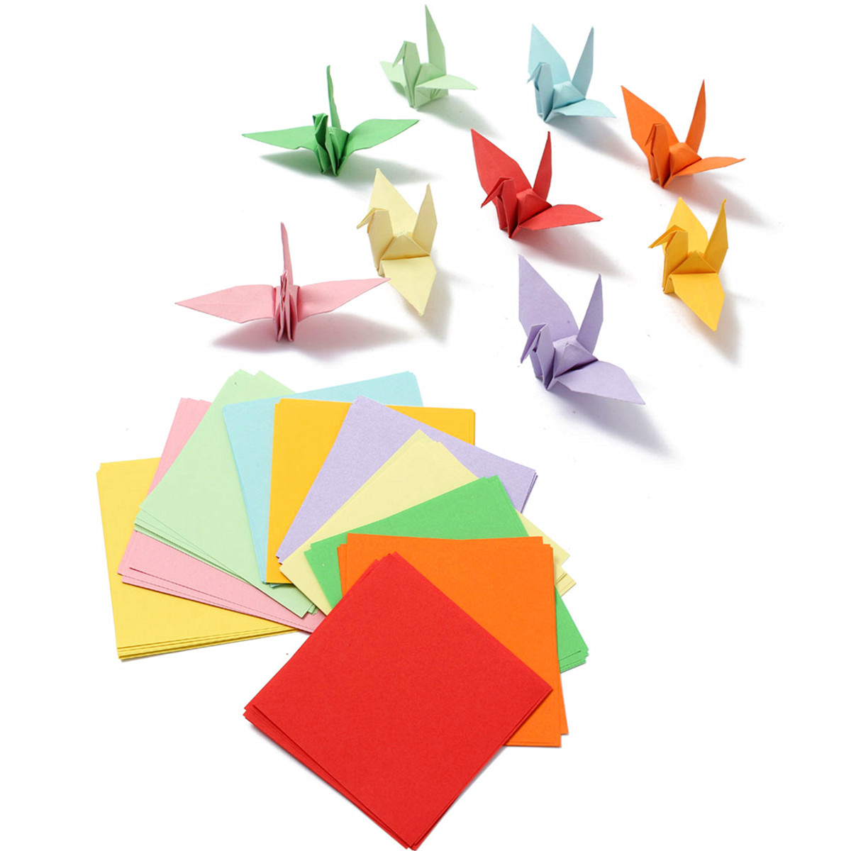 Hot Style 100 PCs Lot Multicolor Origami Square Paper Toy Hand Making Sheets For Papercranes Crafts Children Kids DIY Best Gift In Learning Education From