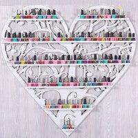 Special Cosmetics 5 Layers Iron Wall Rack Nail Polish Shelf ManicureBoutique Store Shelves Round Gel Nail Polish Heart Shape