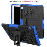 Wytrzymały pokrowiec na tableta do Huawei MediaPad T3 10 AGS-W09/L09/L03 9.6 cala obudowa funda do Honor Play Pad 2 9.6 etui + prezent