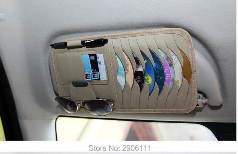 Disc Storage CD DVD eneral Car Sun Visor/card holder for BMW e46 e90 e39 f30 f10 e36 e60 x5 e53 f20 e34 accessories Car styling