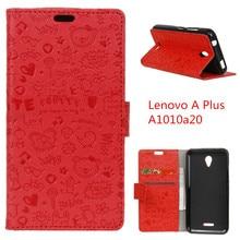 For Lenovo A Plus A1010a20 Phone Case Cartoon Graffiti Leather Wallet Protective Cover For Lenovo A1010/A20/A Plus 4.5″