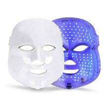 7 цветов светодио дный маска для лица тушь для ресниц эстетика для лица Уход за кожей омоложение морщин удаление акне уход за лицом инструмент для красоты
