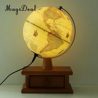 LED Desktop World Globe Earth Map Globe with Stand for Office Home Decoration School Educational Supplies