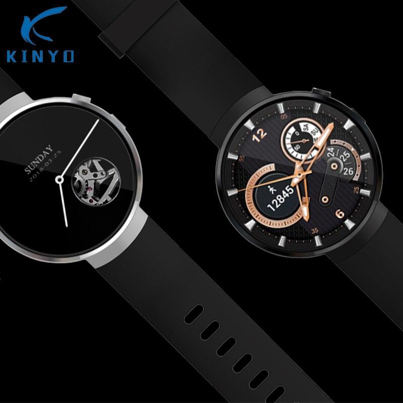 Kinyo 2018 Smartwatch AMOLED 1 + 16 gb MT6737M LTE-4G di rete android 7.0 GPS cuore tracker smart watch per gli uomini per xiaomi LEM7