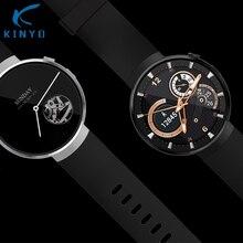Kinyo 2018 Smartwatch AMOLED 1+16GB MT6737M LTE-4G community android 7.zero GPS coronary heart tracker good look ahead to males for xiaomi LEM7