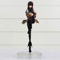 Steins Gate Makise Kurisu PVC Action Figure Toys Collection Model Dall For Kids Gifts With Box 24cm