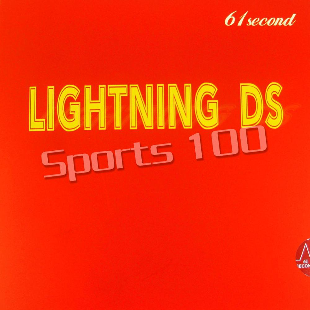 61second Lightning DS NON-TACKY Pimples in Table Tennis PingPong Rubber With Sponge