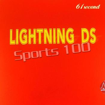 цена на 61second Lightning DS NON-TACKY Pimples in Table Tennis PingPong Rubber With Sponge