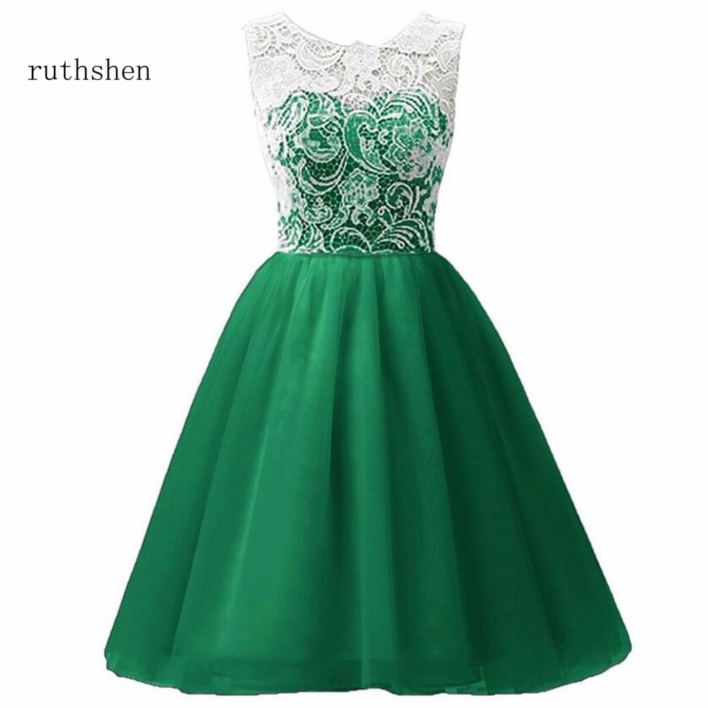 ruthshen 2018 In Stock Real Photo Stunning A line Lace Chiffon   Flowers     Girl     Dress   Beautiful Ball Gown For Formal Birthday Party