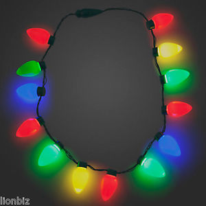Christmas Light Necklace.Us 4 89 51 Off 1x 5x 10x Led Candle Lights Christmas Bulb Necklace Party Favors Holiday Decor New Year Gift Necklaces Led Light Up Bulbs Lamps In
